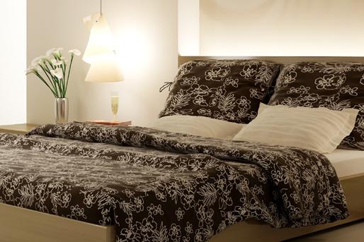 Bettwäsche in braun