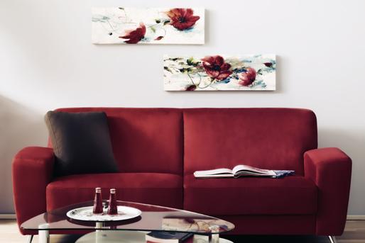 rotes Sofa, rote Bilder