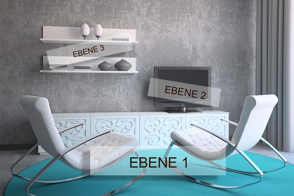 Ideen für die Wohnung: Wohnzimmer-Möbel anordnen - modern