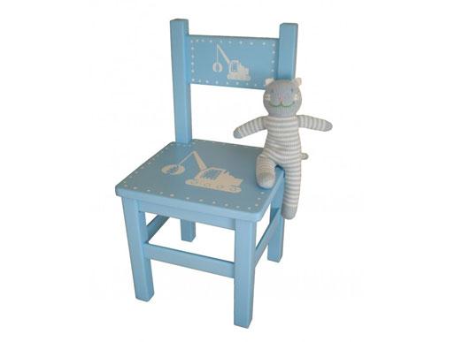 Hellblauer Stuhl für Kinder
