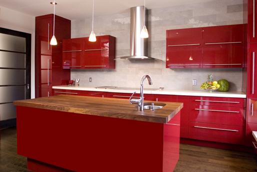 Küchen rot