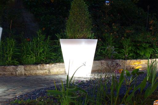 Shining Pot, leuchtender Blumentopf