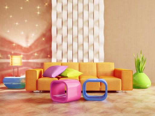 Sofa Design Farben Retro