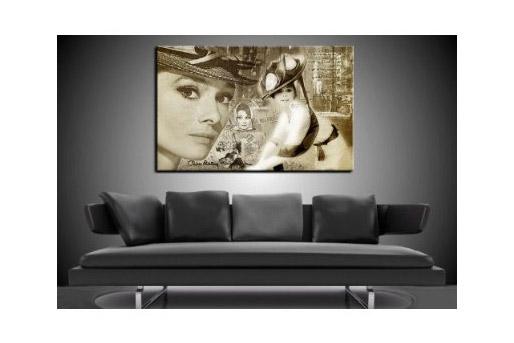 Foto Collage Audrey Hepburn als Kunstdruck