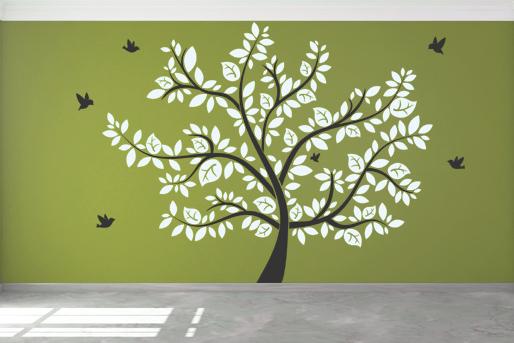 Wandtattoo, großer Baum