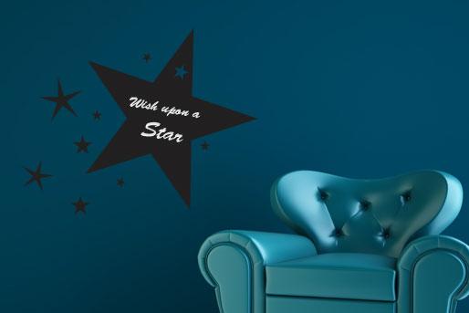 Sternenregen U2013 Wandattoo Als Tafelfolie Im Sternen Design