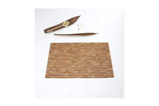 Duschvorleger, Bambus, Matte, Teppich, Holzvorleger, Bad