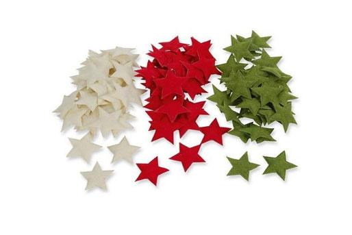 Weihnachtsdeko Sterne Streusterne