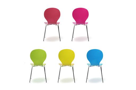 Esszimmerstühle bunt  Esszimmerstühle - stapelbar, freischwingend, aus Holz oder als ...