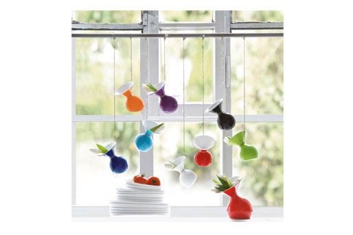 bunte Vase als Blickfang