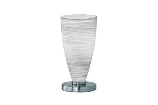 Tischlampe, Lampenschirm aus weißem Glas