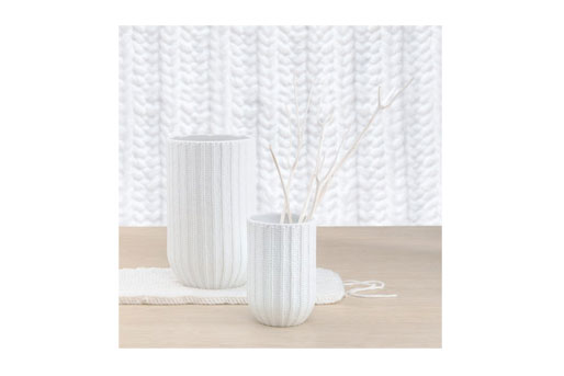 Vase gestrickt