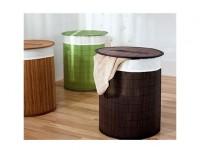 Wäschekorb, Wäschesack, Bambus