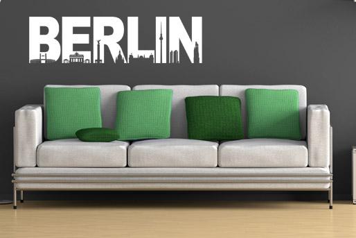 Skyline von Berlin als Wandtattoo
