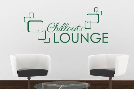 Wandtattoo Worte Lounge