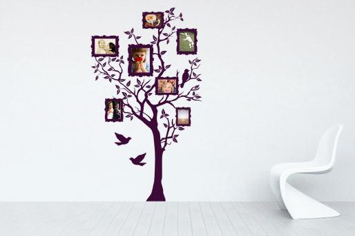 dekorative Wandtattoos im Wohnbereich