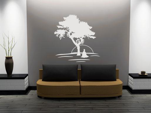 Asiatisches Wanddesign