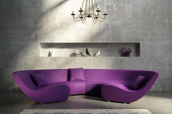 Ausgefallenes Sofa als optisches Highlight