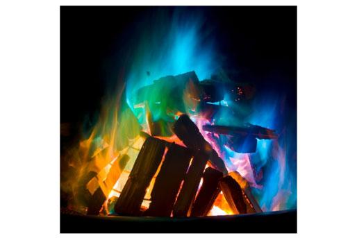 Feuer bunt