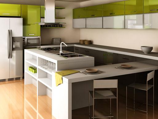 Integrierter Küchentisch