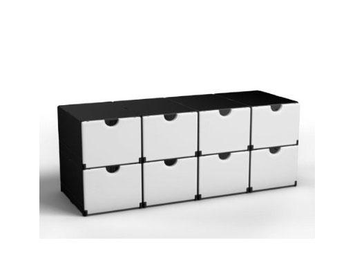 Multibox 8er als Schuhregal verwenden