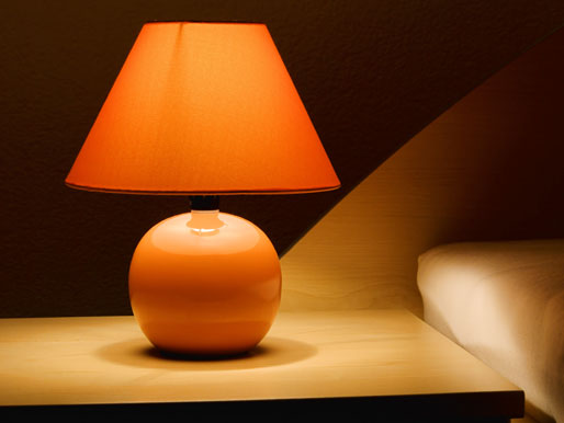 Stilvolle Nachttischlampe