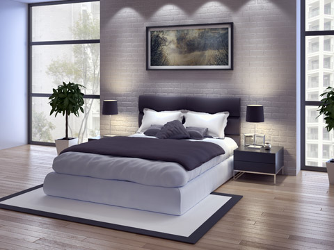 betten luxus im schlafzimmer mit himmelbett futon und. Black Bedroom Furniture Sets. Home Design Ideas