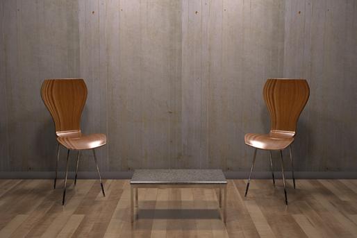 Stuhl schlicht