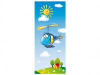 Hubschrauber Türschild