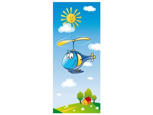 Hubschrauber Türtapete