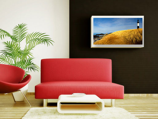 Wandbild Landschaft mit Leuchtturm