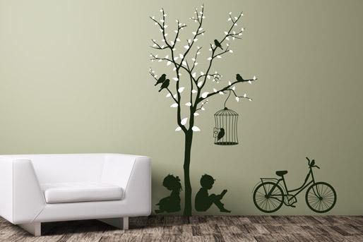 Wandtattoo Baum mit Blättern