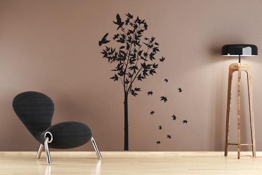Baum-Silhouette als Wandtattoo