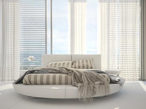 Bett luxuriös rund