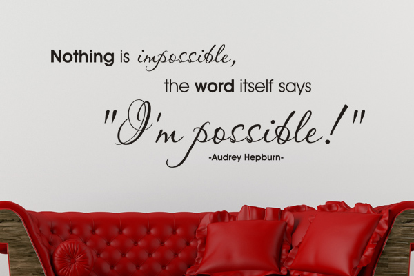 Wohntrend Nothing is impossible